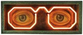 Early Neon Optometrist Trade Sign