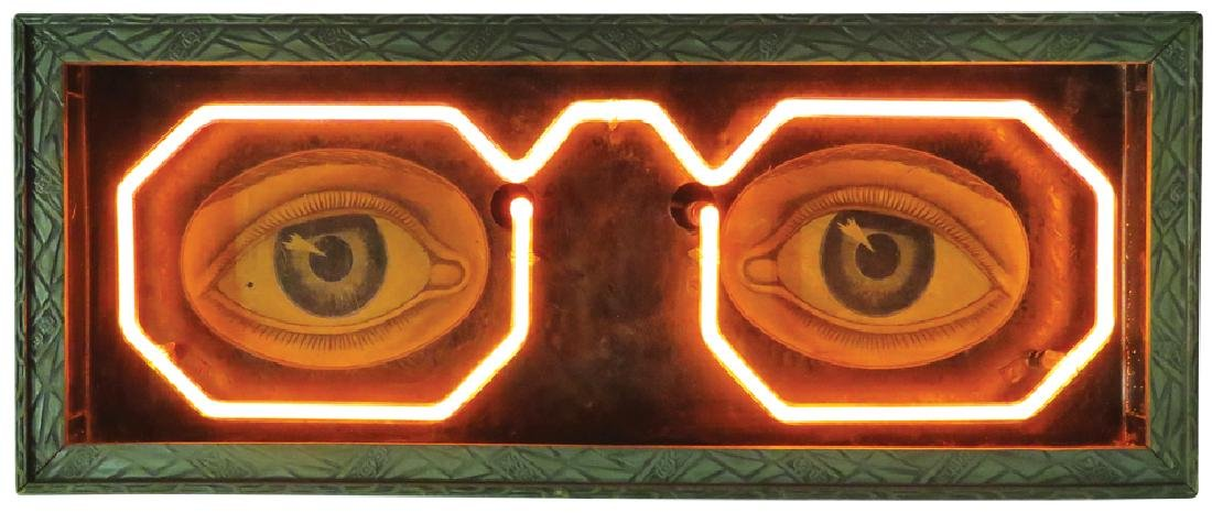 Early Neon Optometrist Trade Sign