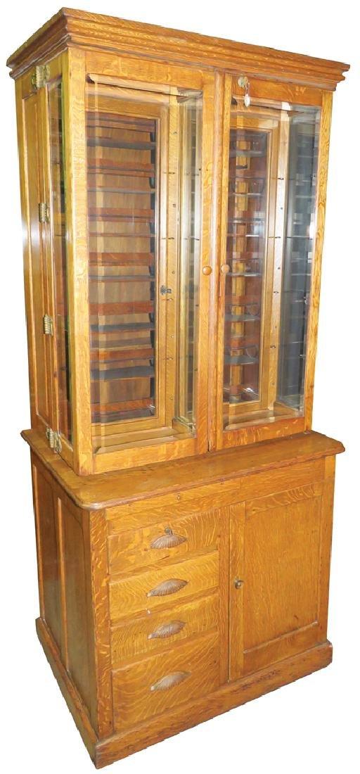 Quartersawn Oak Doctor's Cabinet