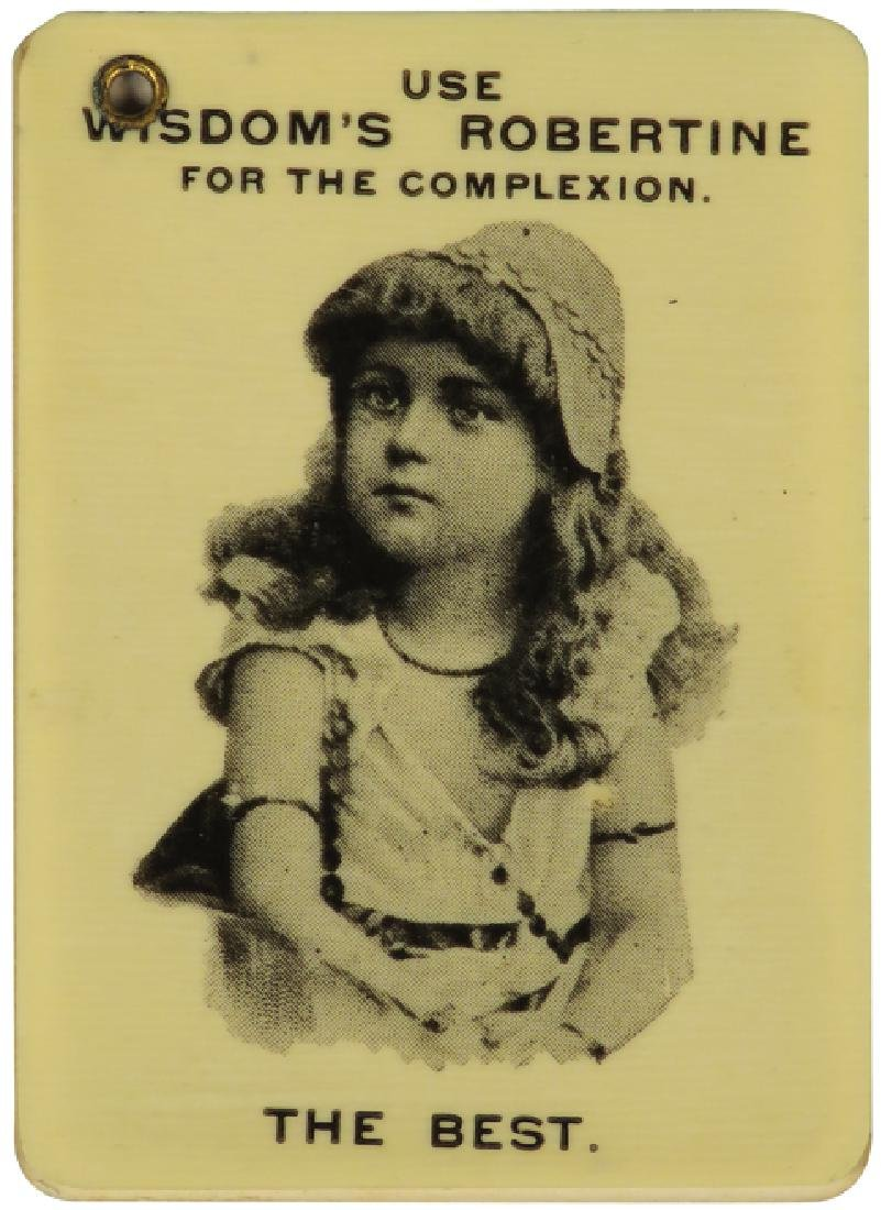 1890 Celluloid Advertising Notebook Calendar