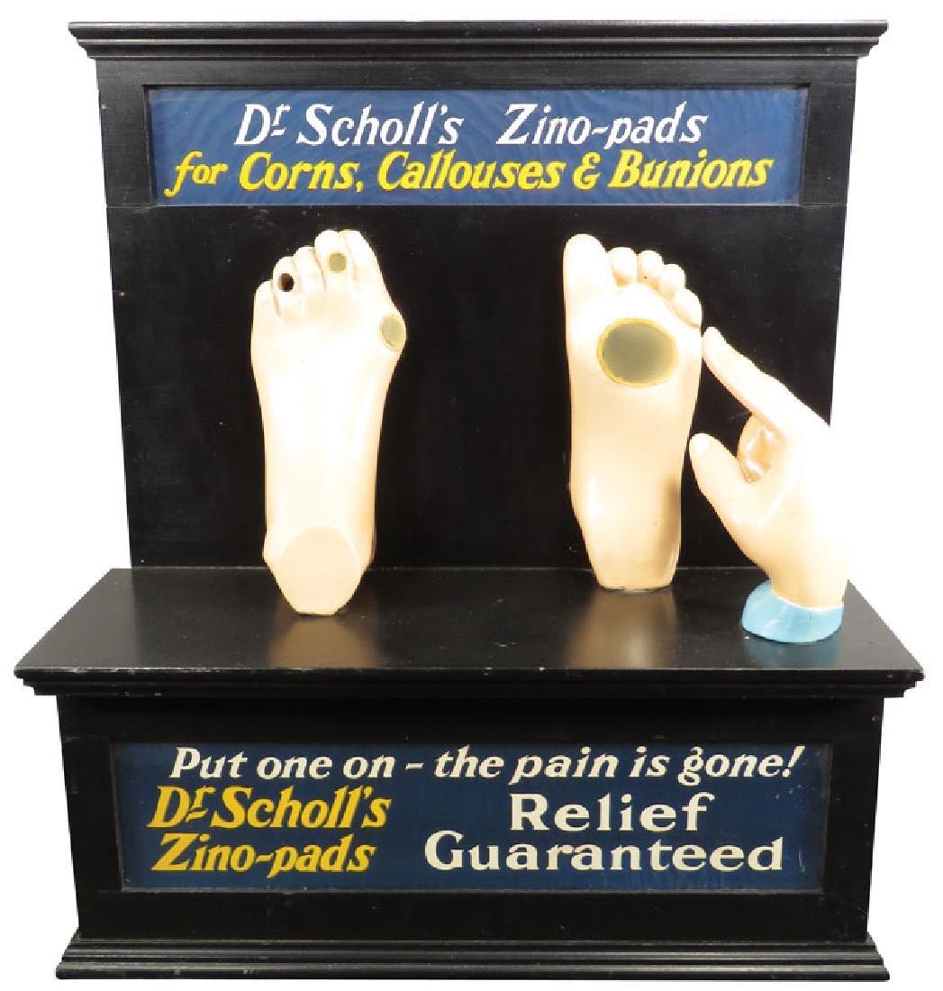 Dr. Scholl's Zino Pads Light Up Store Display