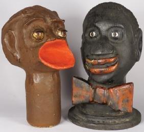 Two Black Americana Head Figures