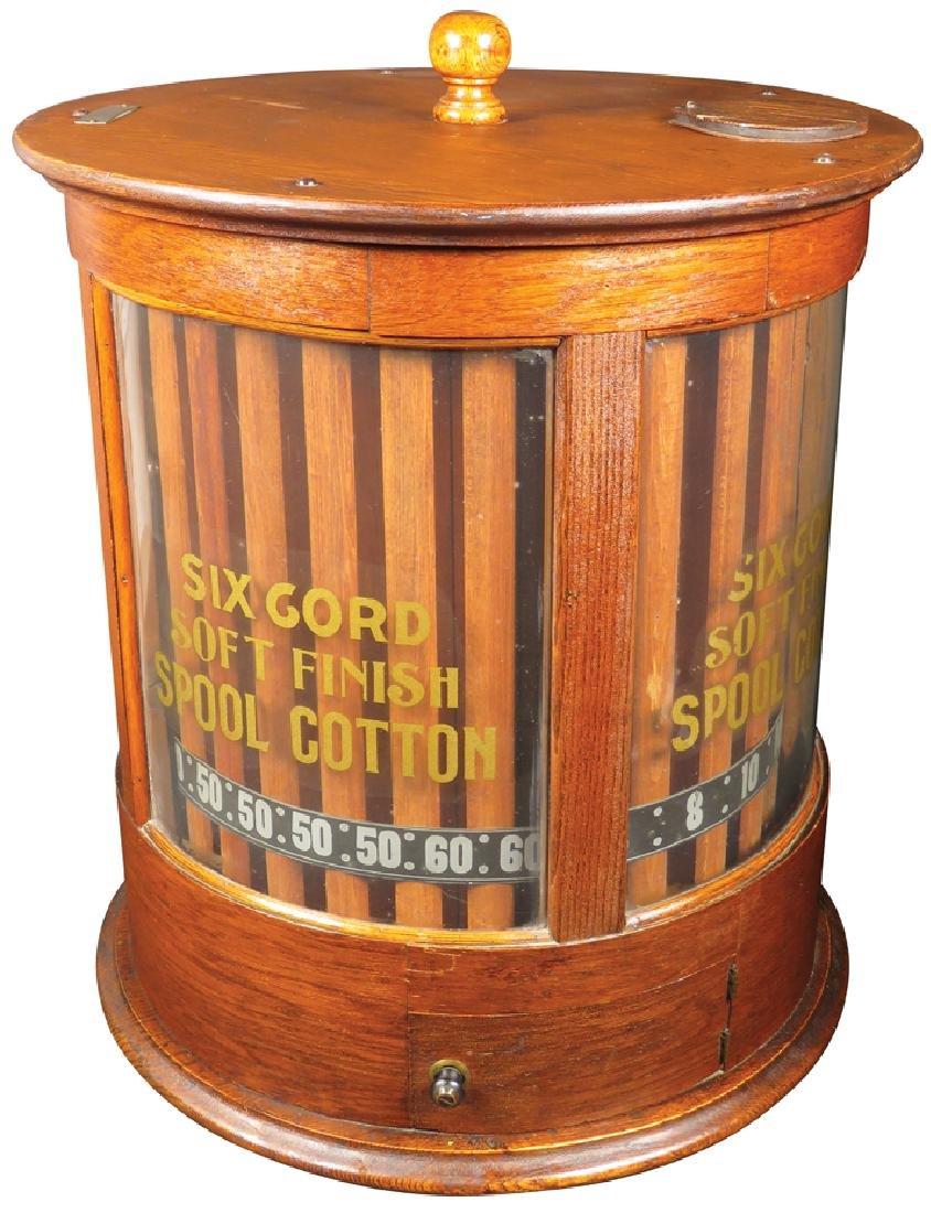 Six Cord Soft Spool Cotton Store Cabinet