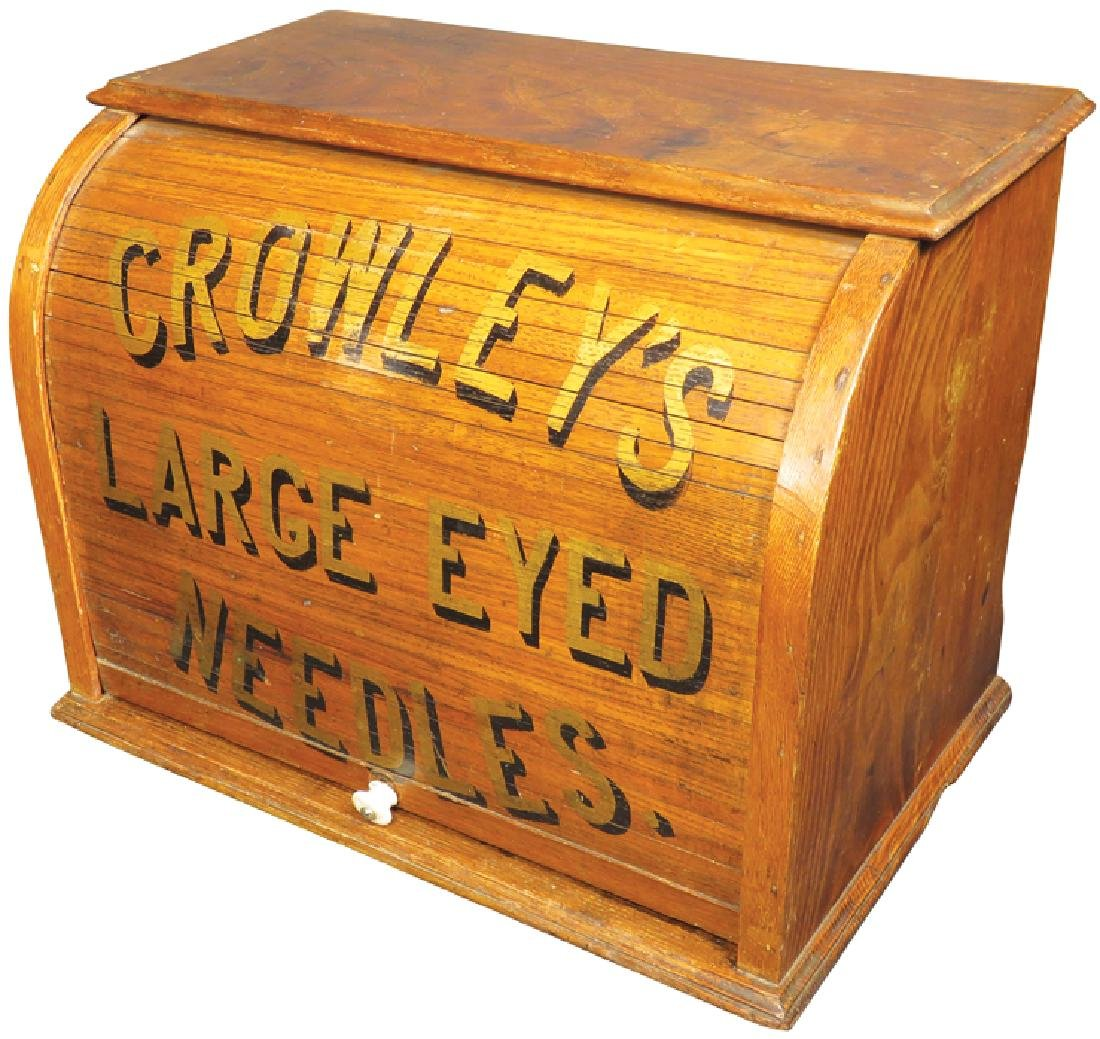 Crowley's Large Eyed Needle Display Cabinet