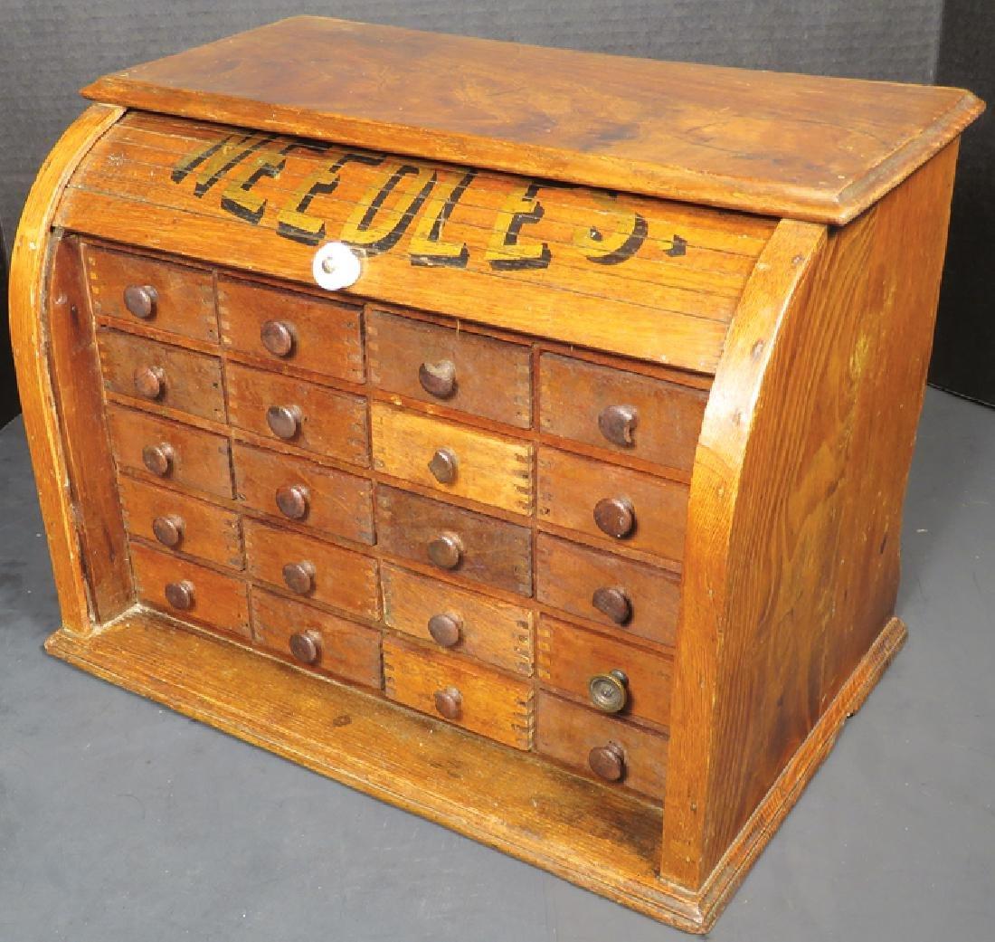 Crowley's Large Eyed Needle Display Cabinet - 2