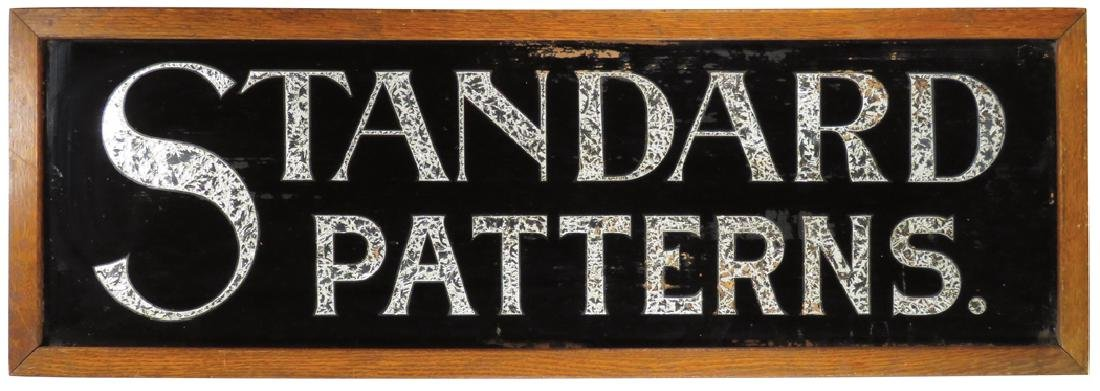 Standard Patterns Reverse Glass Sign