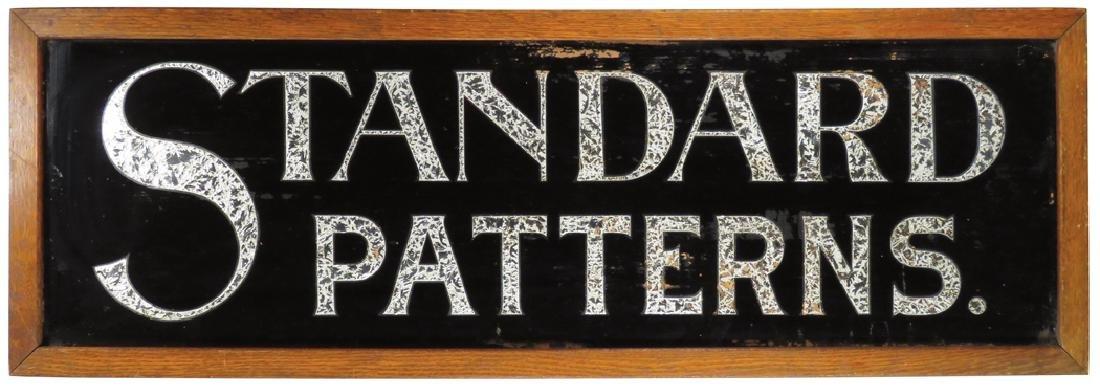 Standard Patterns Reverse Glass Sign