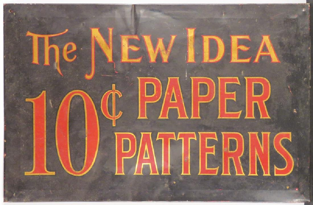 The New Idea Paper Patterns Tin Sign
