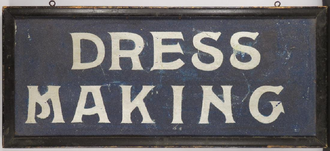 Early Dress Making Wood Sand Sign