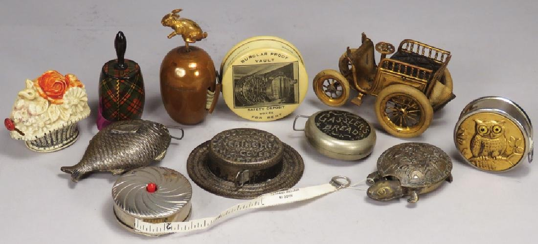 Collection of Early Figural Tape Measures