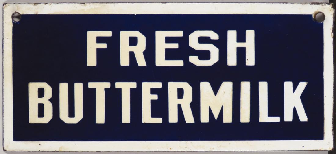 Fresh Buttermilk Porcelain Sign