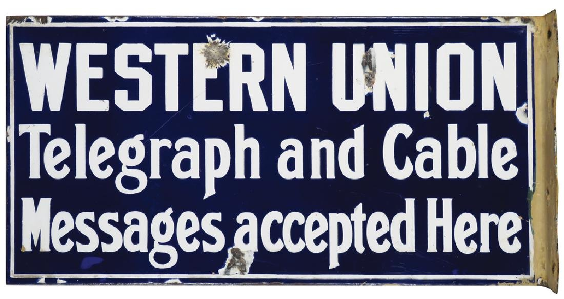 Western Union Telegraph & Cable Flange Sign