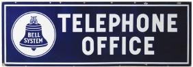 Very Large Telephone Office Porcelain Sign