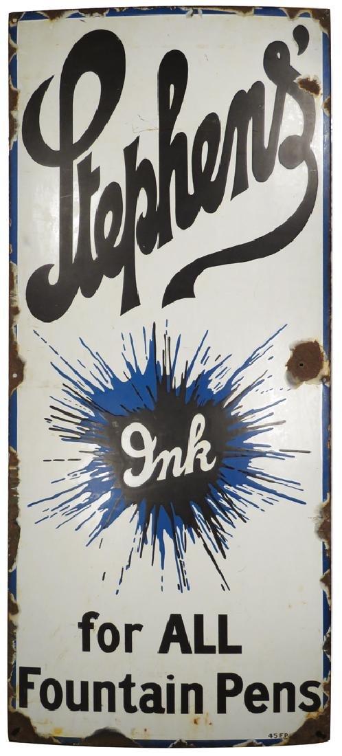 Stephens Inks Porcelain Sign