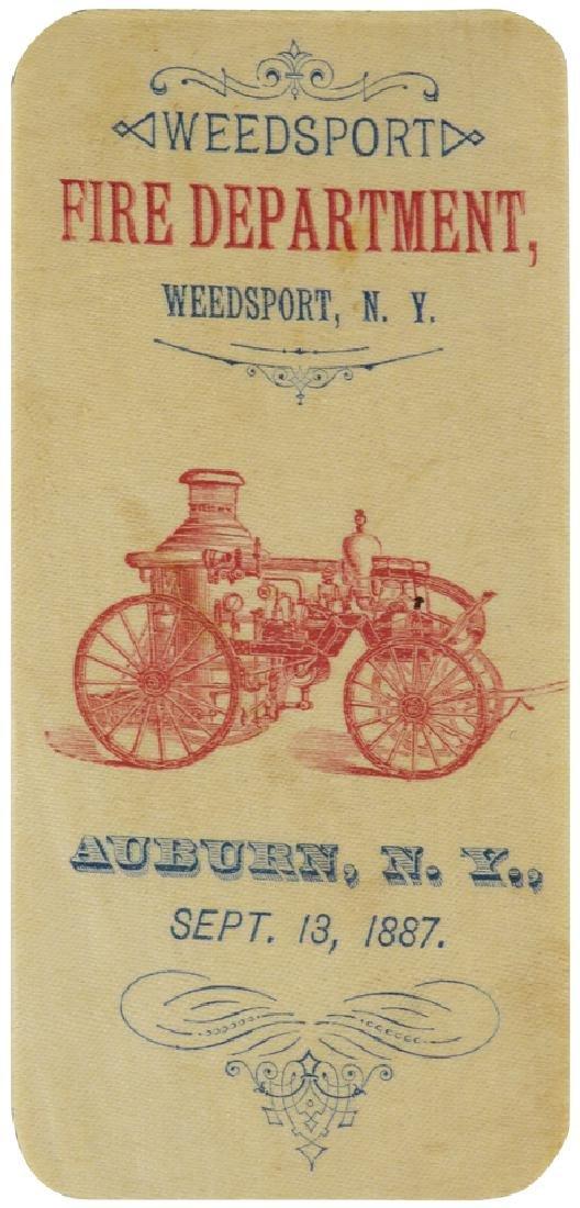 1887 Weedsport Fire Dept. Commemorative
