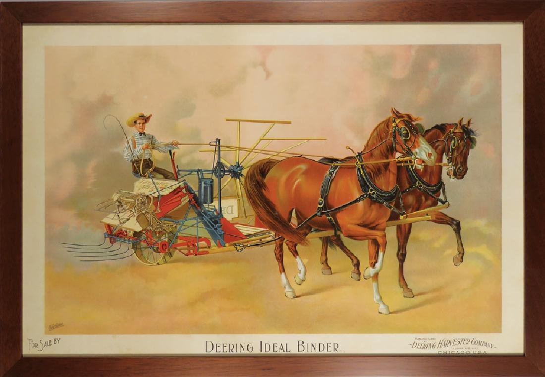 Deering Harvester Company Paper Sign