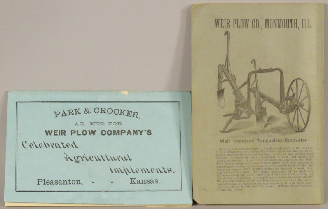 Weir Plow Co. Booklets - 2