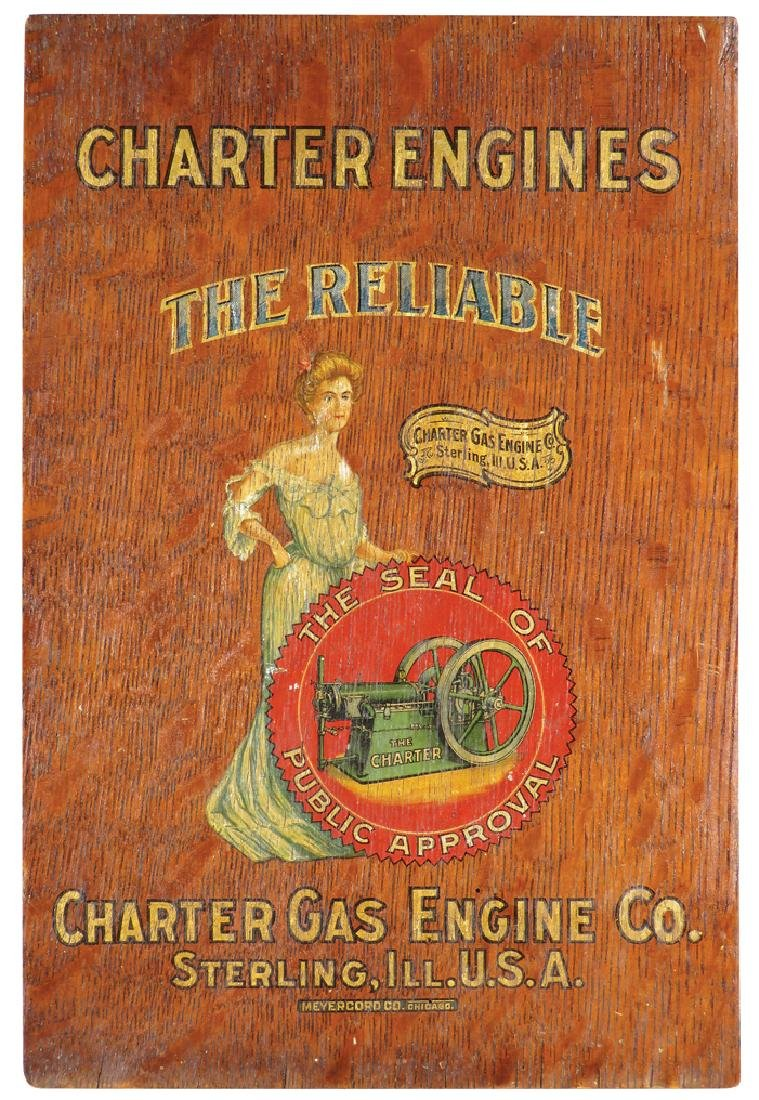 Charter Engines Wood Sign