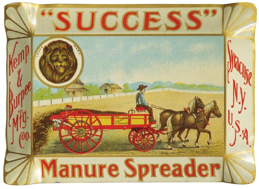 Success Manure Spreader Tin Tip Tray