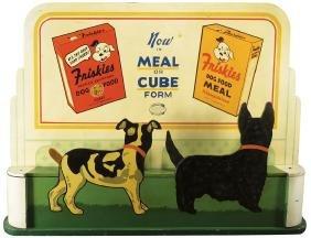 Rare 1940 Friskies Mechanical Store Display