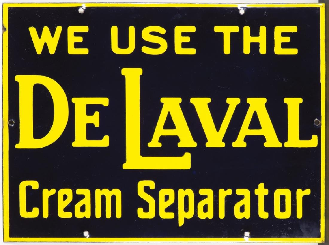 DeLaval Cream Separator Porcelain Sign