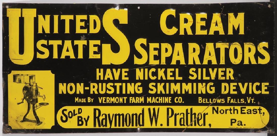 United States Cream Separators Tin Sign