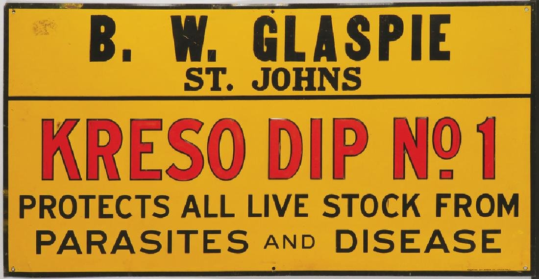 Kreso Dip No.1 Embossed Tin Sign