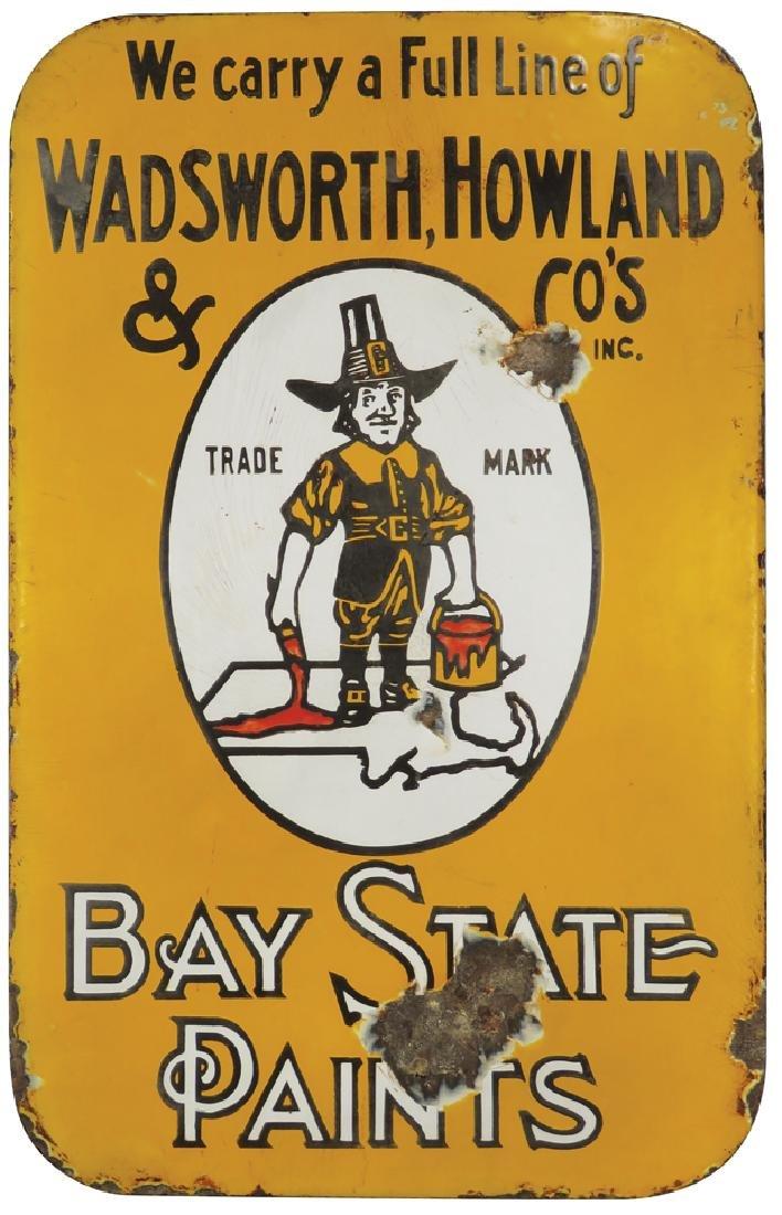 Bay State Paints Porcelain Flange Sign