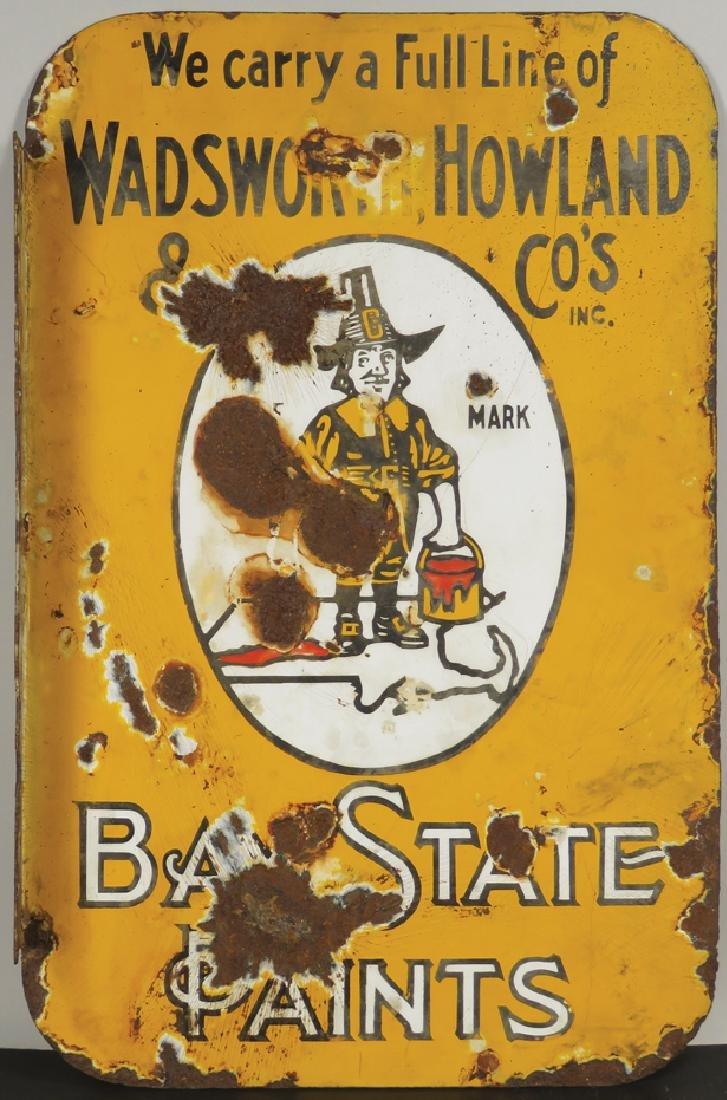 Bay State Paints Porcelain Flange Sign - 2