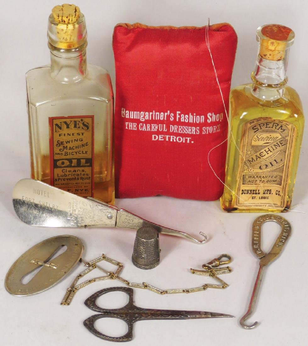 Collection of Sewing and Millinery Items