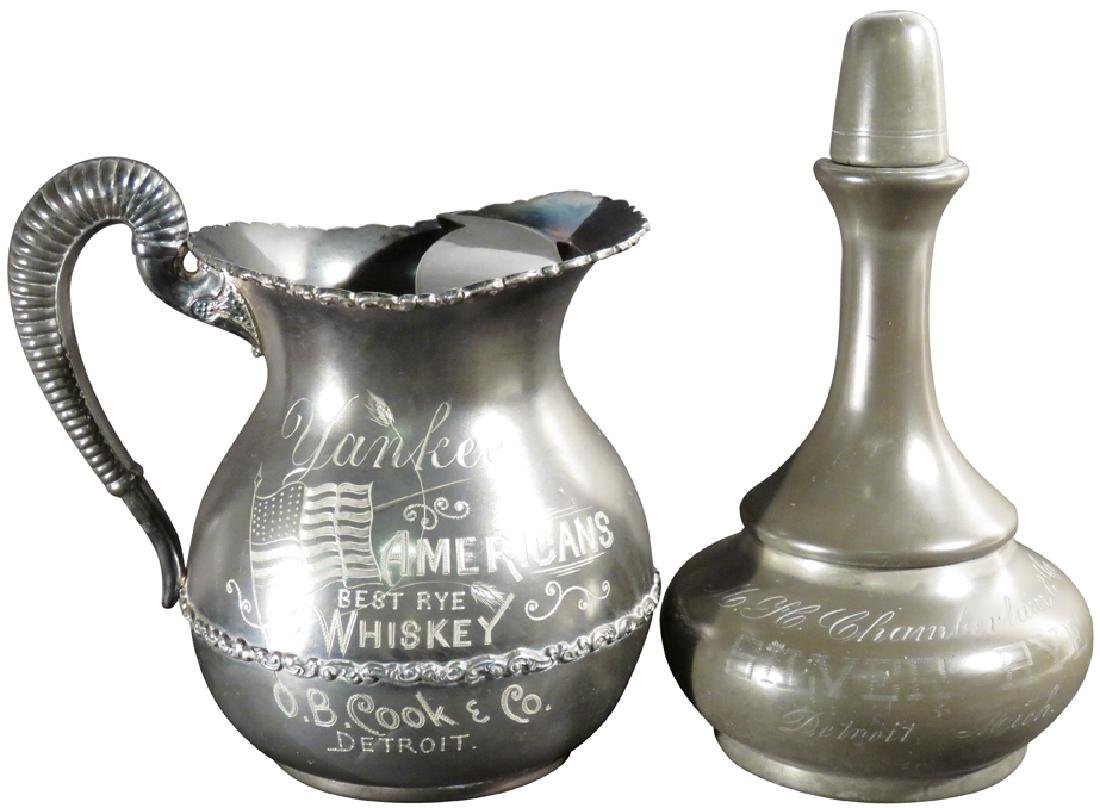 Two Detroit Whiskey Advertising Items