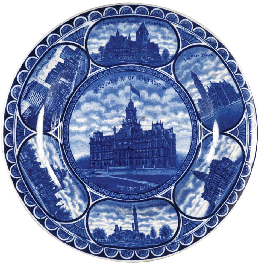 City of Detroit Landmarks Souvenir Plate