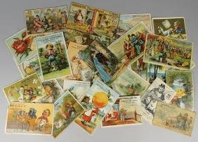 Collection of 32 Detroit Advertising Trade Cards