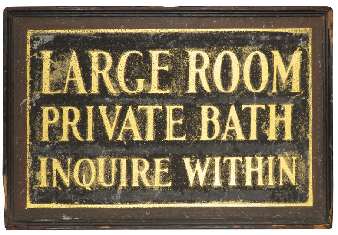 Large Room Private Bath Wood Sand Sign