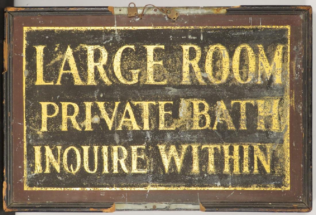 Large Room Private Bath Wood Sand Sign - 2