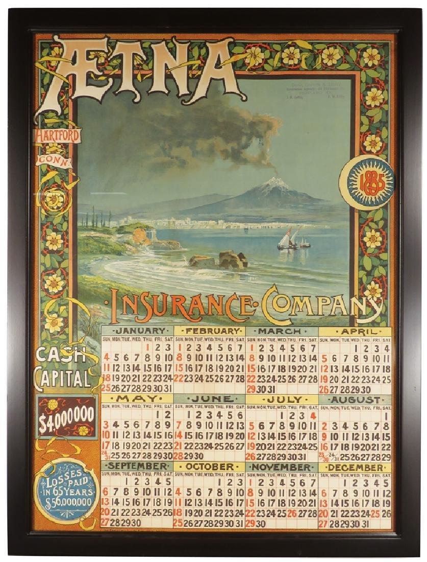 1885 Aetna Insurance Calendar