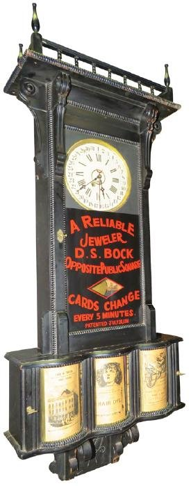 Rare Sidney Advertising Clock Circa 1885