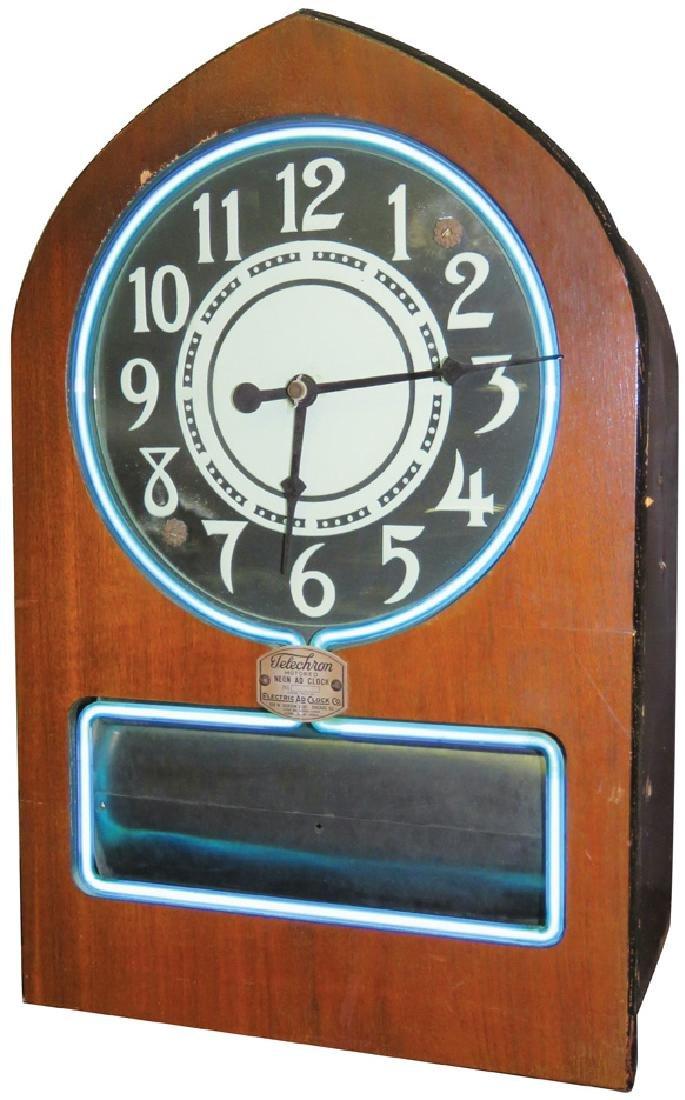 Telechron Motored Neon Ad Clock