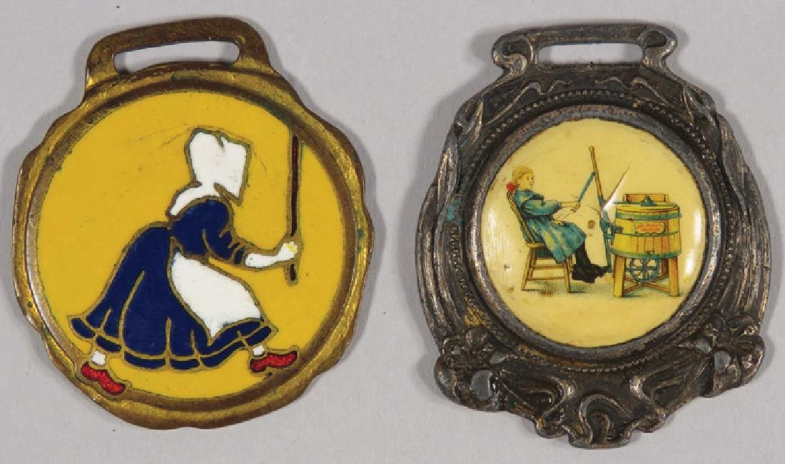 Two Early Advertising Watch Fobs