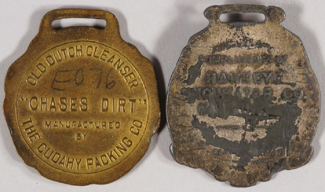 Two Early Advertising Watch Fobs - 2