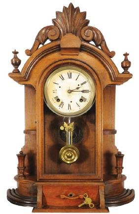 Ansonia Oak Mantle Shelf Clock