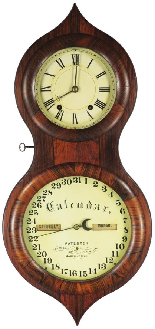 1862 Seth Thomas Office Calendar Wall Clock