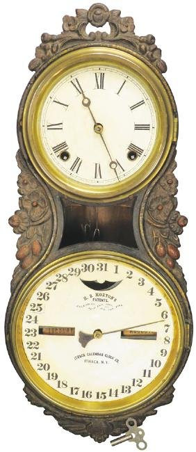 Ithaca Cast Iron Calendar Clock