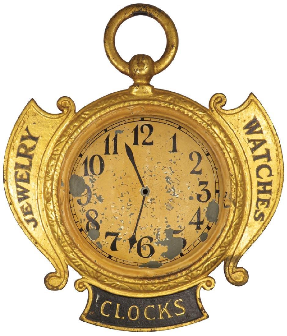 Jewelry, Watches & Clocks Zinc Trade Sign