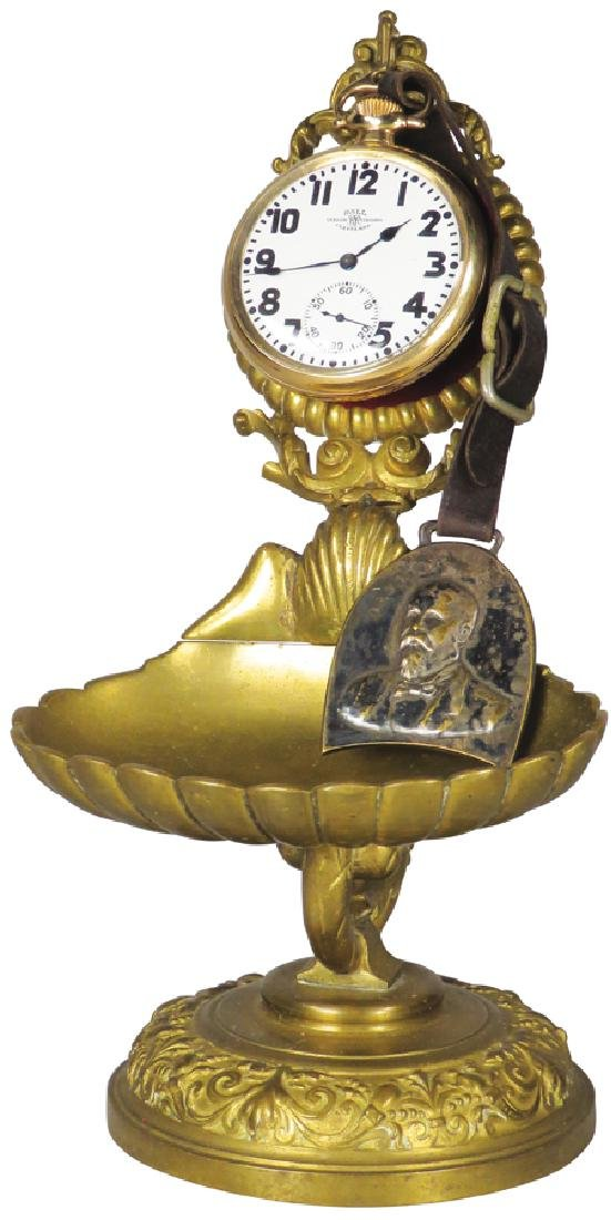Brass Victorian Pocket Watch Holder