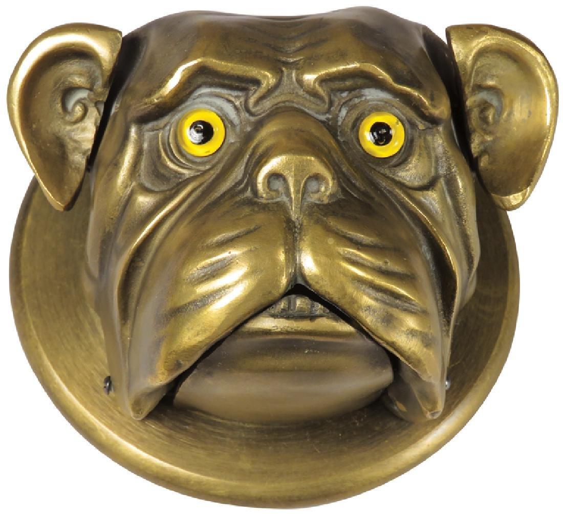 Clockwork Brass Bull Dog Bell
