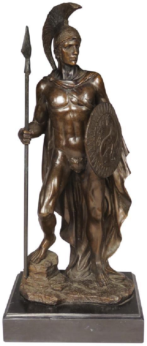 Spartan Warrior Bronze Statue