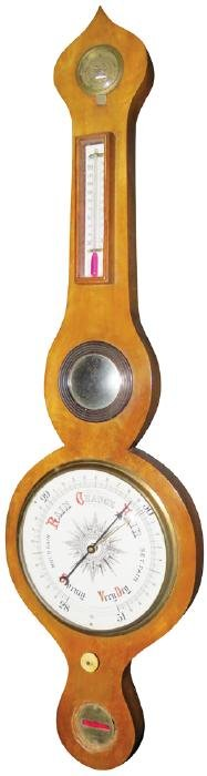 Antique Victorian Banjo Thermometer