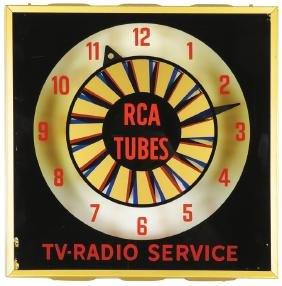 Rca Tubes Tv-radio Service Light Up Clock
