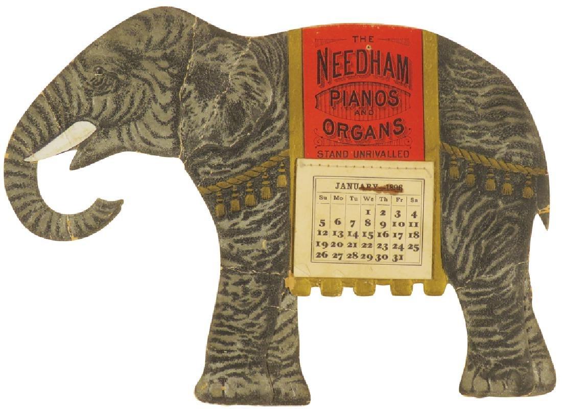 1896 Die Cut Calendar for Neeham Pianos